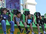In addition to the Comics N' Coasters event, kids got to laugh on many rides. © Anie Miles