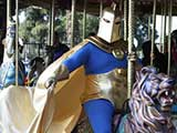 Justice Leaguers rode the carosel! © Anie Miles