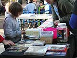 Kids received <em>Highlights</em> and <em>Cricket</em> magazines at the KNTR table &copy; Anie Miles