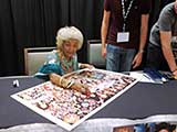Actress Nichelle Nichols of Star Trek (Lt. Uhura) graciously signed art for KNTR. © Debbie Brown