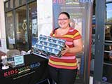 Lori Cothrun of Bookmans stopped by to support the cause. © Denise Gary