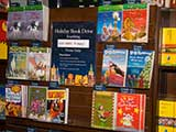 Holiday Book Drive Display for KNTR