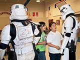 It was obvious how excited the kids were to meet the Stormtroopers! © Denise Gary