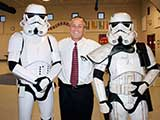 CFA Tempe Assistant Superintendent Jerald Lewis enjoyed getting his picture made with the Stormtroopers. © Denise Gary
