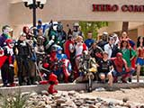 Superheroes from Arizona Avengers and Justice League Arizona gather outside Hero Comics to support KNTR. © Bruce Matsunaga