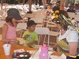Janette followed her program with faerie face painting.