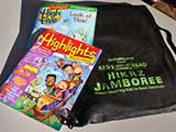 HIGHLIGHTS and HIGHLIGHTS HIGH FIVE magazines were included in every backpack.