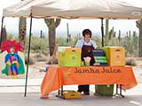 Jamba Juice offered cold smoothies.